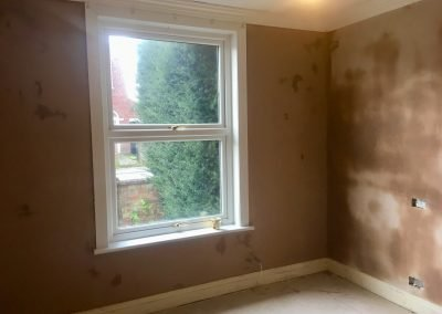Living Room Repair and Re-Skim
