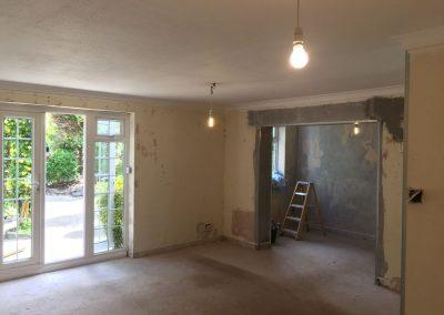Living room ready for plastering