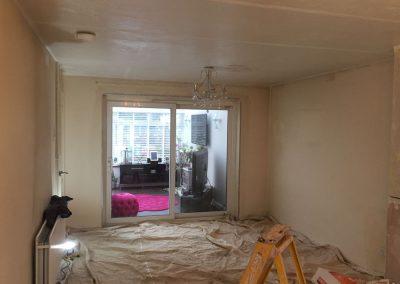 Living room prepped for plastering