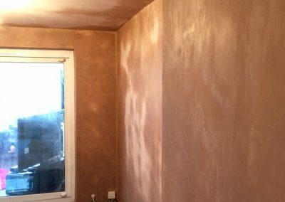 Living room fully plastered