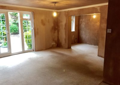 Living Room and Dining Room Re-Skim