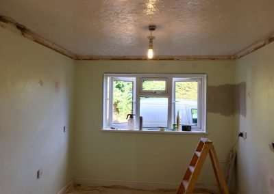 Coving removed ready for plastering