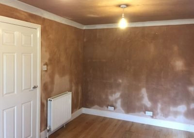 Full room plastered and coving installed