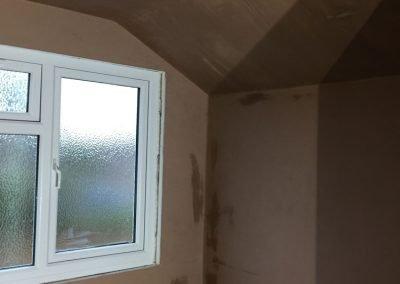 Freshly Plastered Loft Extension