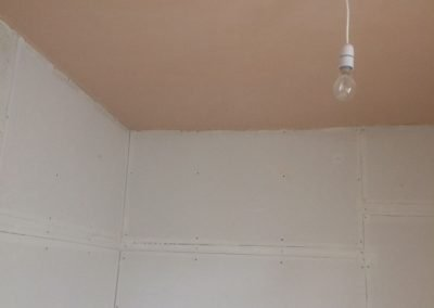 Ceiling Tiles Removed and Ceiling Re-Skimmed