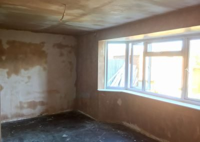 Living Room Ceiling Plasterboarded and Walls Skimmed