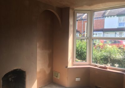 Living Room and Bedroom Plastered