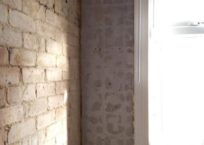 Walls ready for plastering